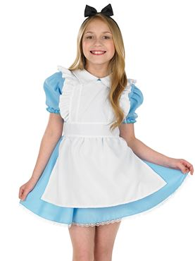 Child Traditional Alice Costume - Back View