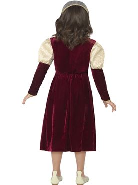 Child Tudor Damsel Princess Costume - Side View