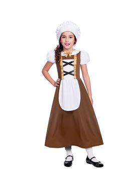 Child Tudor Girl Brown Costume