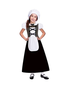 Child Tudor Girl Black Costume