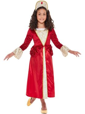 Child Tudor Princess Costume - Back View