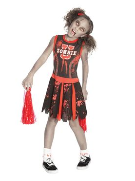 Child Undead Cheerleader Costume
