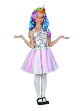 Child Unicorn Dress Headpiece Costume