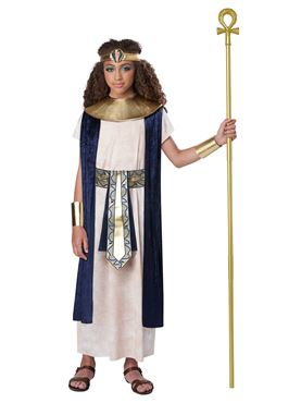 Child Unisex Ancient Egyptian Tunic Costume - Back View