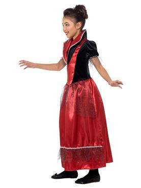 Child Vampire Princess Costume - Back View