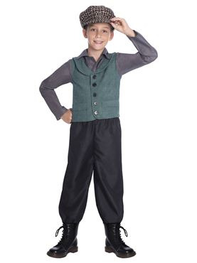 Child Victorian School Boy Costume