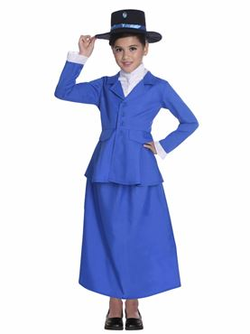 Child Victorian Nanny Costume - Side View