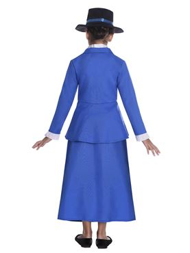 Child Victorian Nanny Costume - Back View