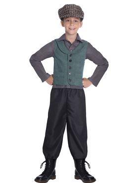 Child Victorian School Boy Costume - Side View