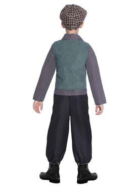 Child Victorian School Boy Costume - Back View