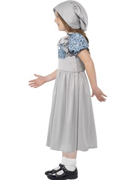 Child Victorian School Girl Costume - Back View
