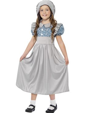 Child Victorian School Girl Costume