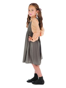 Child Victorian Schoolgirl Costume - Side View
