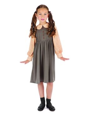Child Victorian Schoolgirl Costume - Side View