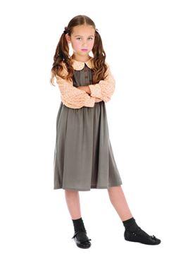 Child Victorian Schoolgirl Costume - Back View