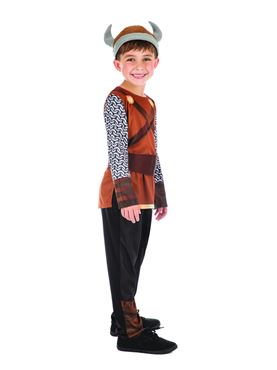 Child Viking Boy Costume - Back View
