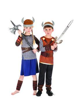 Child Viking Girl Costume - Side View