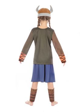 Child Viking Girl Costume - Side View