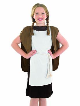 Child Viking Girl Costume - Back View