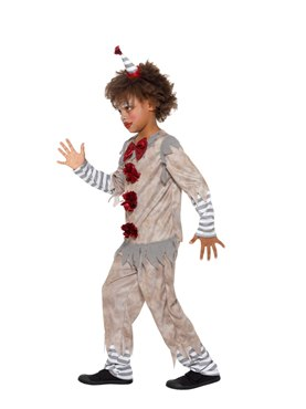 Child Vintage Clown Boy Costume - Back View