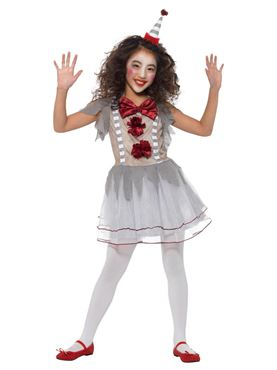Child Vintage Clown Girl Costume - Side View