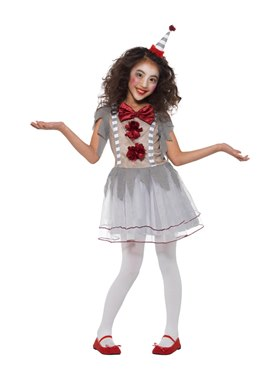 Child Vintage Clown Girl Costume