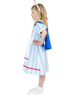 Child Vintage Nurse Costume - Back View
