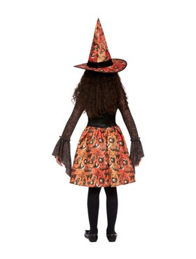 Child Vintage Witch Costume - Side View