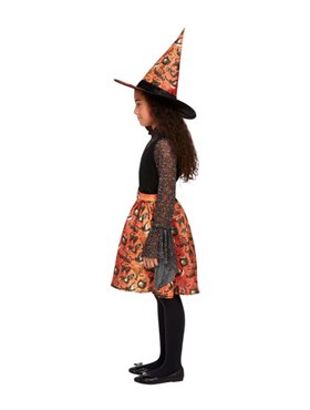Child Vintage Witch Costume - Back View