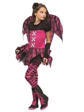 Child Pink Punk Fairy Costume