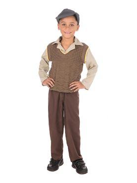 Child Wartime School Boy Costume Couples Costume