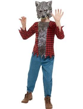 Child Werewolf Costume - Back View