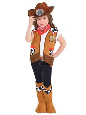 Child Western Costume - Back View