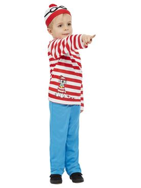 Child Where's Wally Costume - Back View