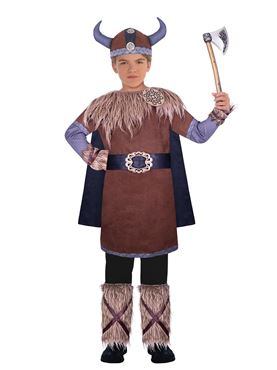 Child Wild Viking Warrior Costume