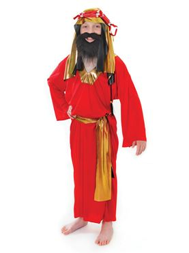 Child Wise Man Red Costume