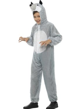 Child Wolf Costume - Side View