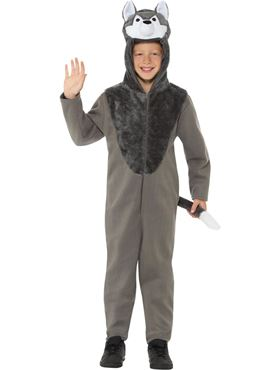 Child Wolf Costume - Back View