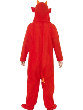 Child Devil Onesie Costume - Side View