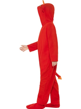 Child Devil Onesie Costume - Back View