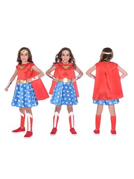 Child Wonder Woman Classic Costume - Side View