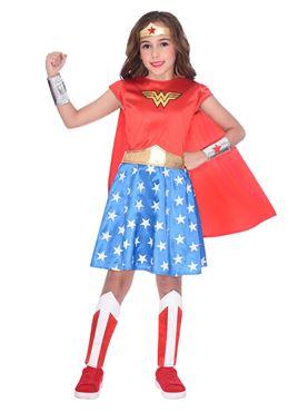 Child Wonder Woman Classic Costume - Back View