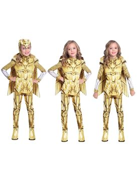 Child Wonder Woman Gold Hero Costume - Side View