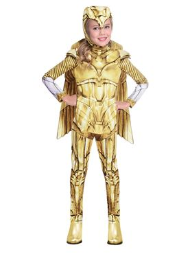 Child Wonder Woman Gold Hero Costume Couples Costume