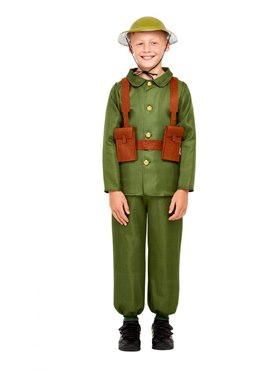 Child WW1 Soldier Costume - Back View