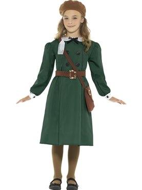 Child WW2 Evacuee Girl Costume