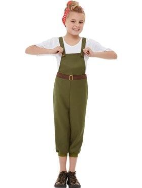 Child WW2 Little Land Girl Costume