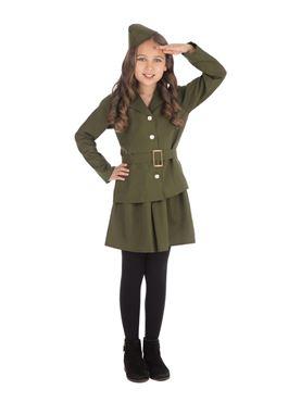 Child WW2 Soldier Girl Costume