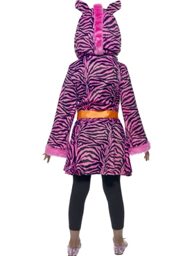 Child Zebra Sass Costume - Side View