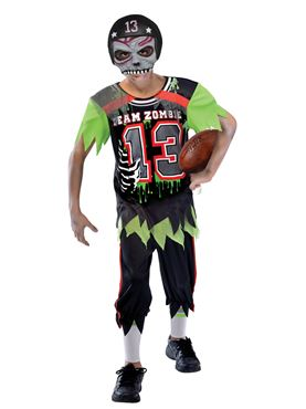 Child Zombie American Footballer Costume